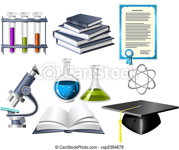 Science and education icons - csp2384878