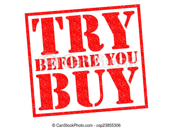 Try before you buy Stock Illustrations. 33 Try before you buy clip ...