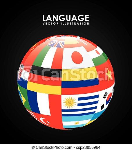 Clip Art Vector of language poster design,vector ...