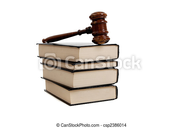 Legal books and Gavel - csp2386014