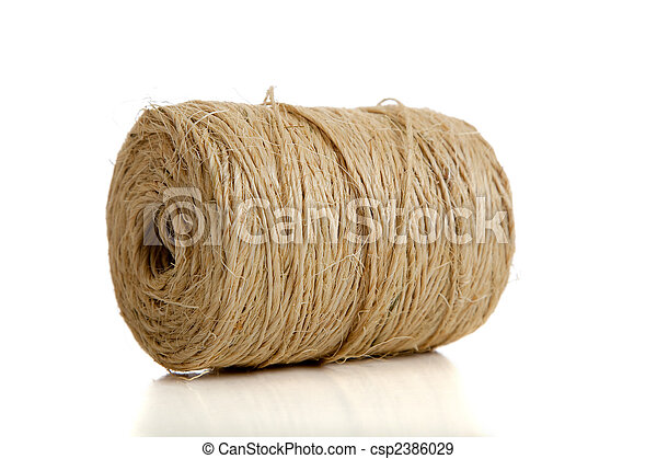 Spool or Natural twine - csp2386029