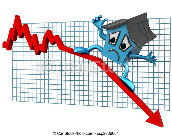 House prices down - csp2386064