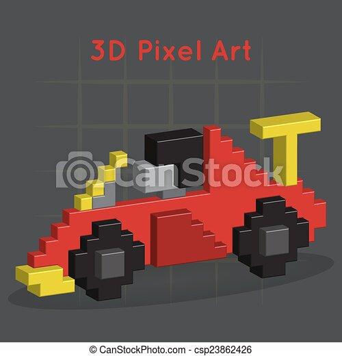 illustration vecteur de voiture course art pixel 3d race voiture 3d csp23862426. Black Bedroom Furniture Sets. Home Design Ideas