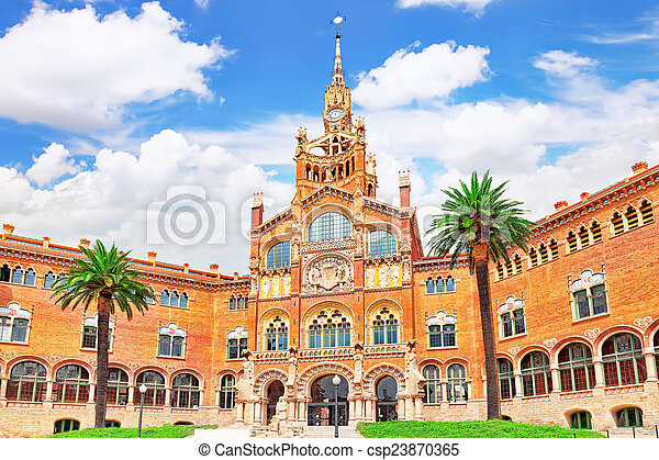 Hospital Sant Pau Recinte Modernista. Barcelona, Catalonia.