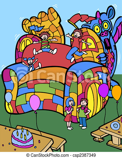 bounce house - csp2387349