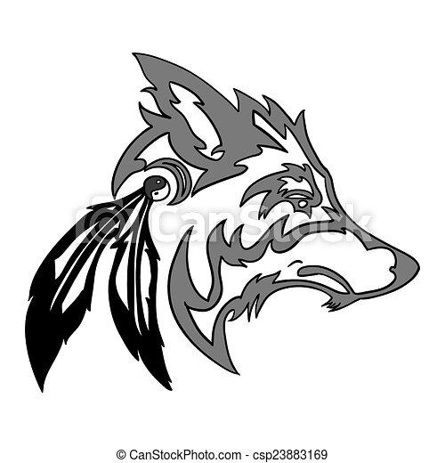 Tribal lobo tatuaje Imágenes y almacen de fotos. 283 Tribal lobo ...