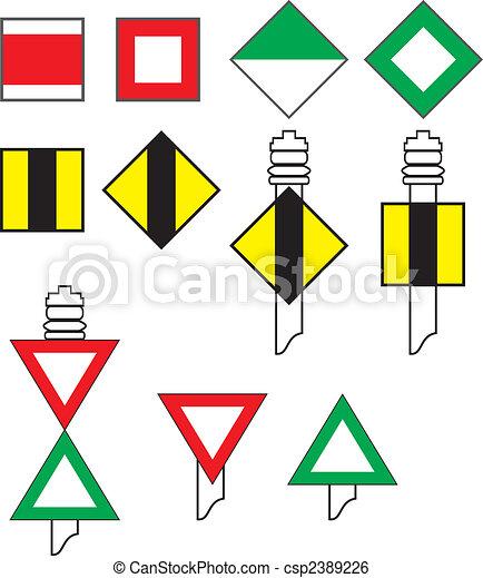 Signal codes flu 223 schifffahrt vektor abbildung