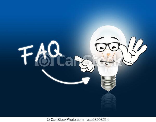 clipart von faq zwiebel lampe energie licht blaues idee csp23903214 suchen sie clip. Black Bedroom Furniture Sets. Home Design Ideas