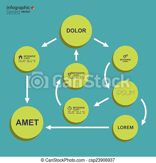 Vectors Of Corporate Organization Chart Template With Round