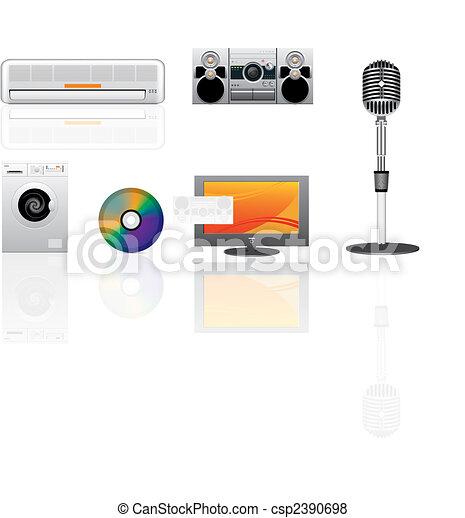 appliance vector icons set - csp2390698