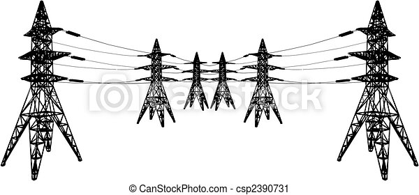Oil Tower Drawing Electrical Tower Csp2390731