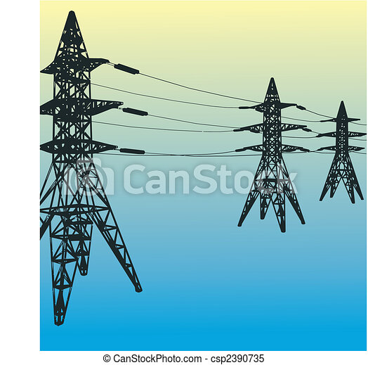 Electrical tower  - csp2390735
