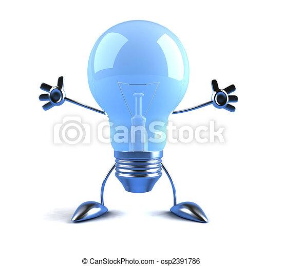 Light bulb - csp2391786