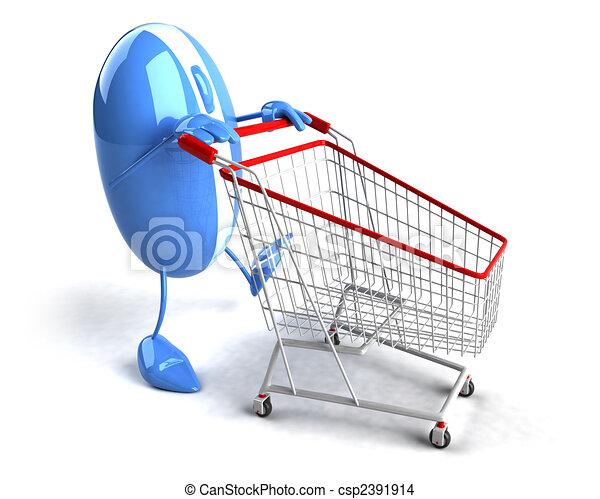 Shopping online - csp2391914