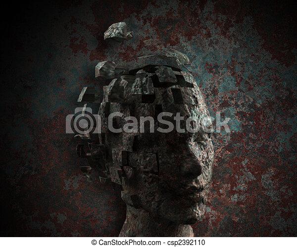Woman\'s mind - csp2392110