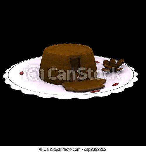 Art Chocolate Molten Lava Cake