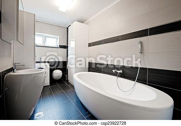Stock Foto Von Badezimmer, Modern, Schwarz, Fliesenmuster - Modern ... Fliesenmuster Badezimmer