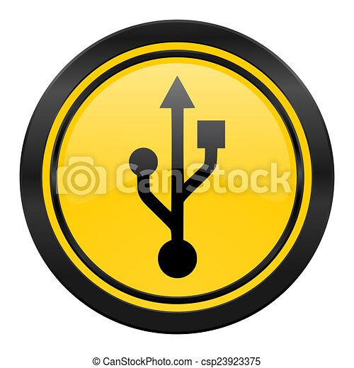 Stock Illustrations of usb icon, yellow logo, flash memory ...