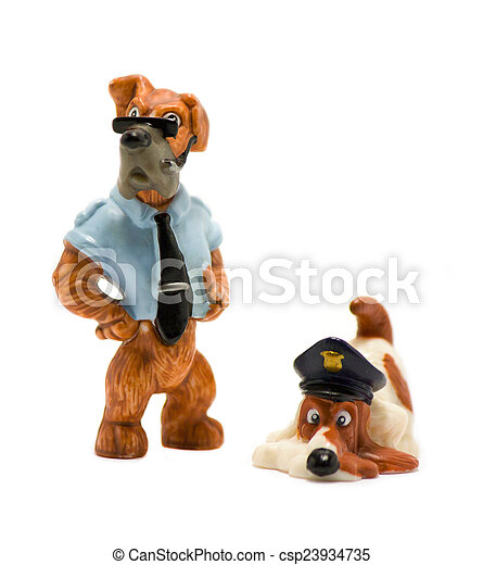Stock Photos of Police dog toy - Police toy dog on a white ...
