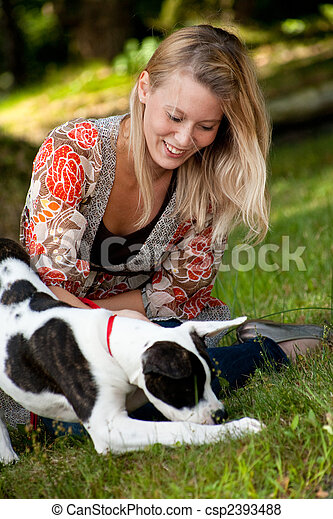 The dog en his owner