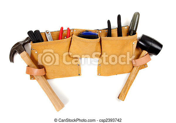 Toolbelt with tools - csp2393742
