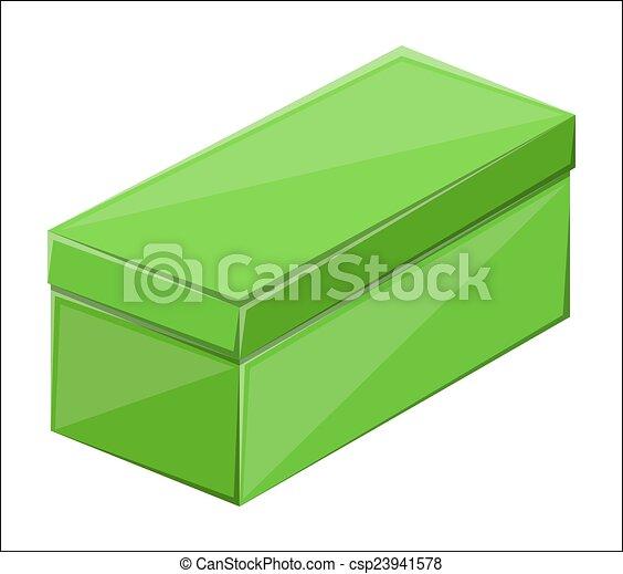 Vectors Illustration of Green Rectangle Box - Green Long ...