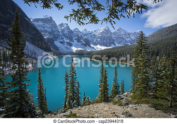 Moraine Lake, Banff National Park - csp23944318
