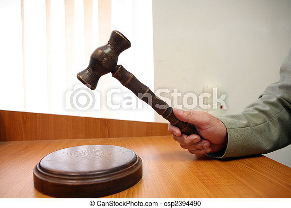 Gavel for auctions or judges sentence tool - csp2394490