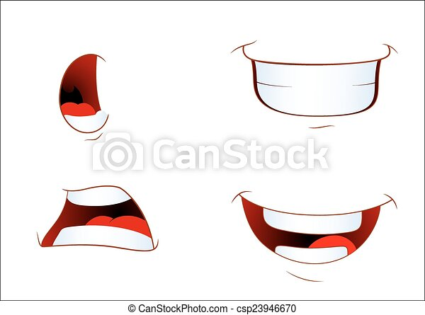 Cartoon Laughing Mouth Cartoon Laughing Comic Mouth