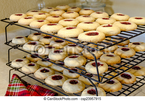 Making of Raspberry Thumbprint Cookies