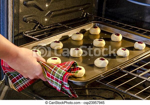 Baking Cookies in Home Kitchen