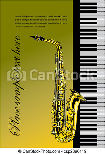 Piano with saxophone - csp2396119