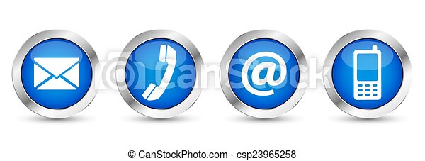 Web Contact Us Buttons - csp23965258