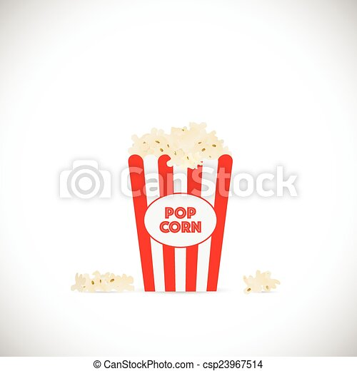 Vector Clip Art of Popcorn Illustration - Illustration of movie ...