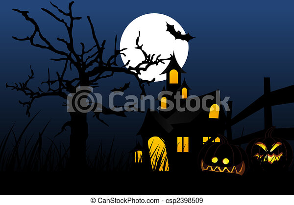 Halloween night - csp2398509