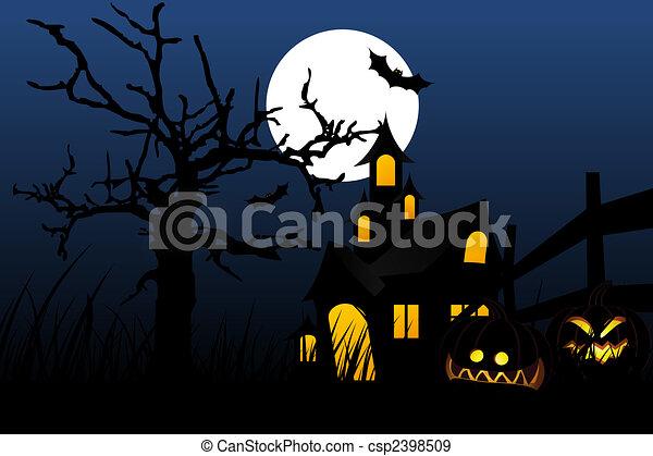 Halloween night - csp2398509