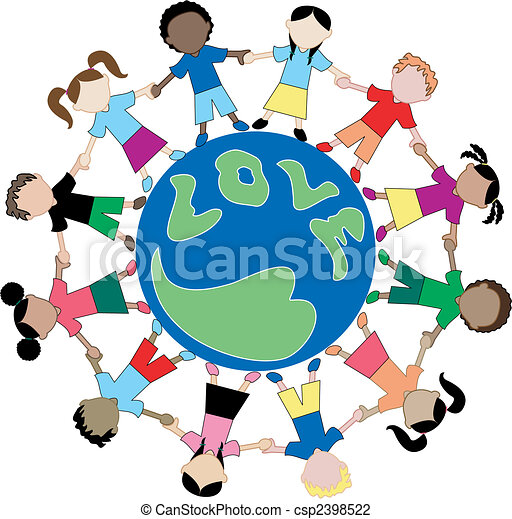 Kids Love Globe 2 - csp2398522