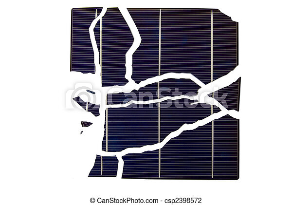 Broken Solar Cell - csp2398572