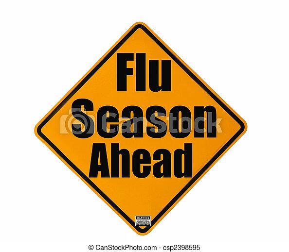 Flu Season warning sign - csp2398595
