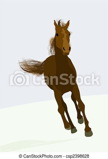 beautifull race-horse - csp2398628