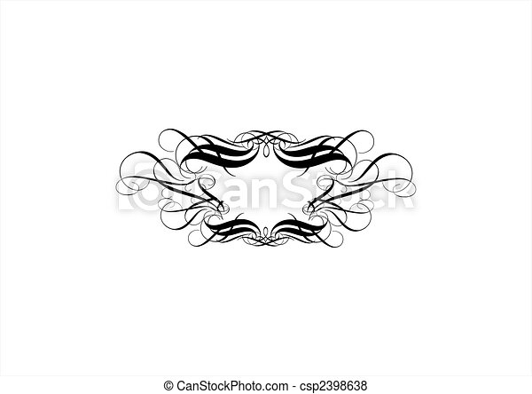 titling frame - csp2398638