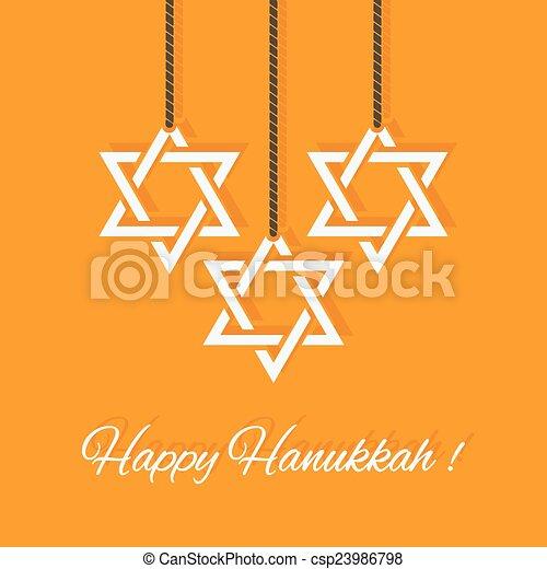 Happy Hanukkah card - csp23986798