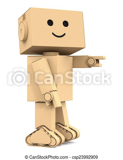 illustration de point mignon carton doigt robot. Black Bedroom Furniture Sets. Home Design Ideas
