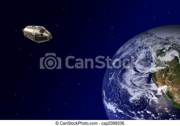 Earth-orbiting spacecraft - csp2399336