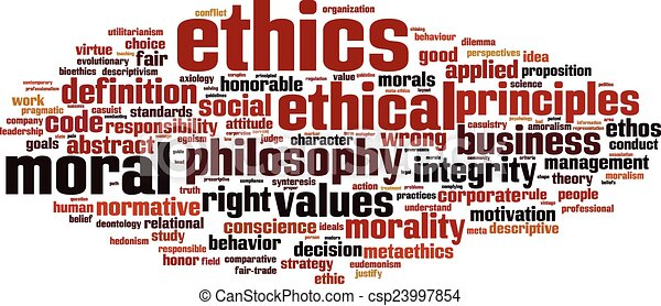 Clipart Vector of Ethics word cloud concept. Vector illustration ...