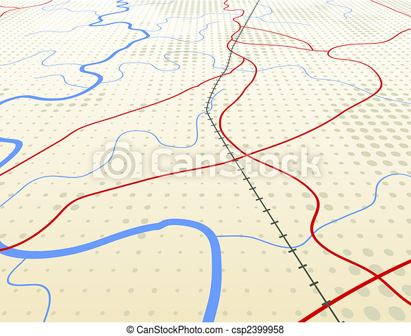 Angled map - csp2399958