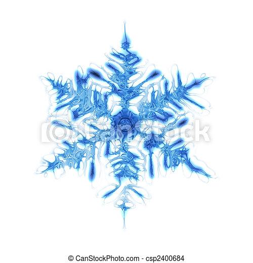 Dessin de flocon de neige gentil bleu neige flocon isoletad csp2400684 recherchez - Dessin flocon de neige simple ...