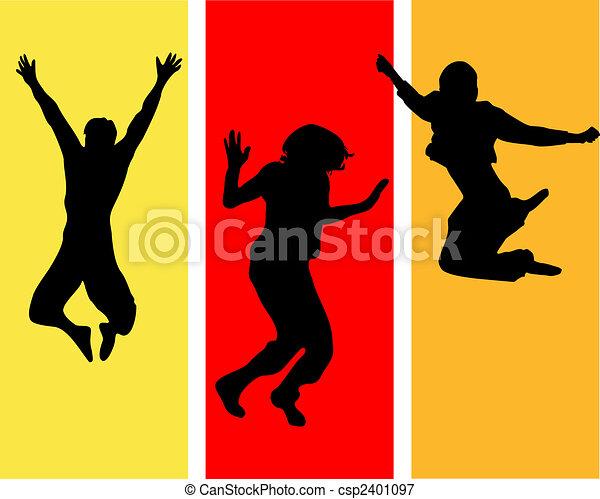 funny jumping teens - csp2401097