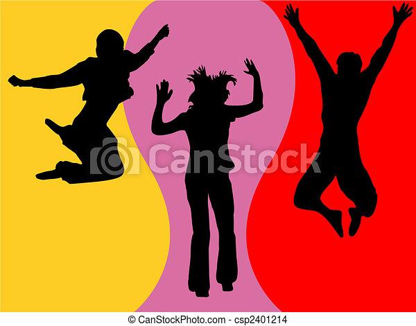 funny jumping teenager - csp2401214