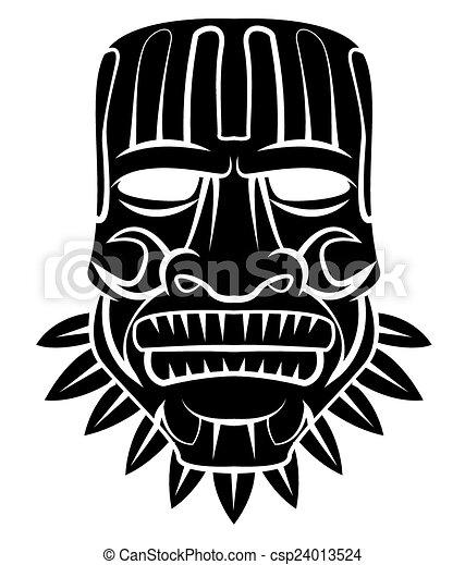 トーテム, マスク, 黒 - csp24013524 トーテム, マスク, 黒お気に入りに追加